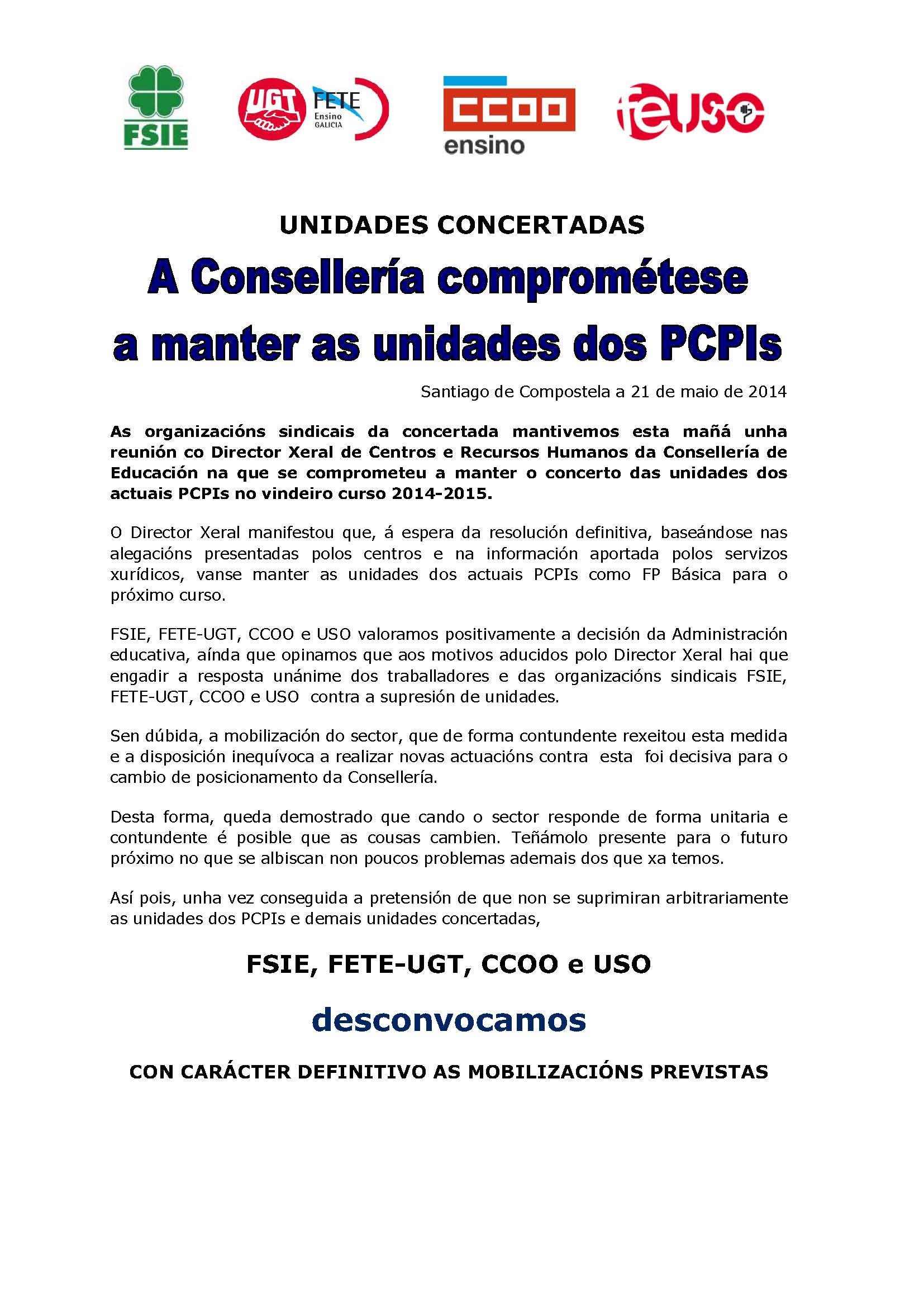 comunicado desconvocatoria DEFINITIVA 210514
